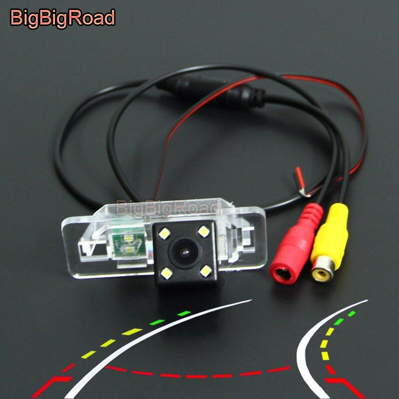 BigBigRoad Car Intelligent Dynamic Trajectory Tracks Rear View CCD Camera For BMW X6 E71 7seires E38 E65 E66 E67 E68 X5 E53 E70