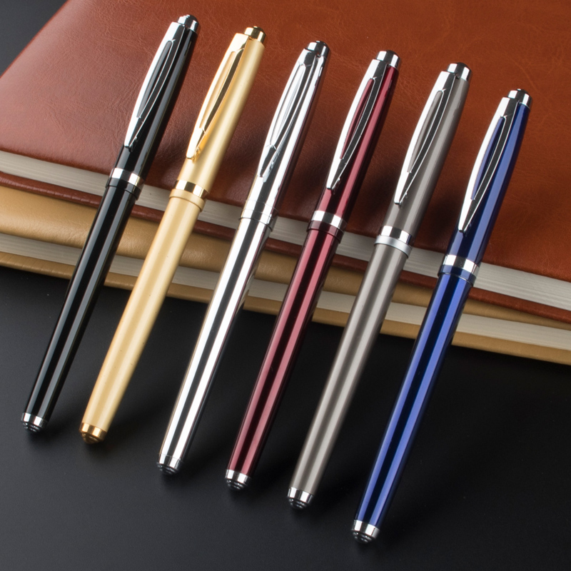 promotional Business Metal Roller Pen Luxury Ballpoint Pen For Business Writing Office School Supplies roller ball pen refill send a refill ballpoint pen metal school office supplies dragon roller ball pens high quality luxury business gift 006
