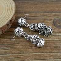 100% 925 Silver Pixiu Charm Vintage Sterling Fengshui Wealth Pixiu Pendant Good Luck Charm Pixiu Amulet