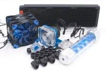 Bykski комплект водяного охлаждения для cpu жесткой трубки intel amd 360 мм медный радиатор
