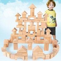 100 cái của log khối xây dựng Bằng Gỗ khối giáo dục Sớm, đồ Tập Hợp Khối Xây Dựng