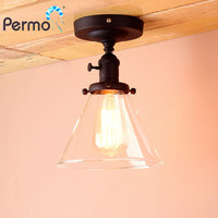 PERMO 7.4Retro Industrial Sconce Wall Light Vintage Wall Lamp Funnel Glass Luminaire New Year Christmas Decorations For Home