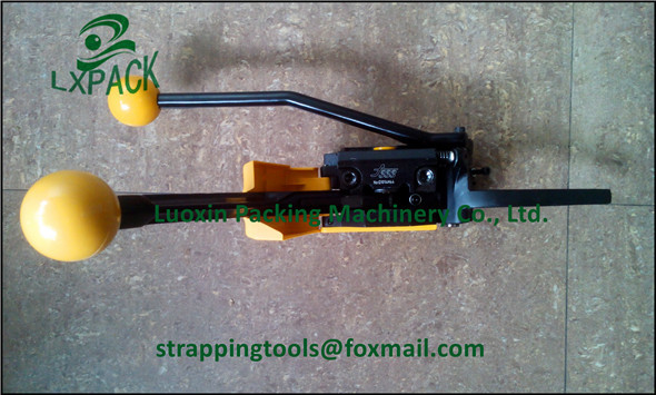 LX-PACK manual sealless strapping tool packaging tools and machines for box closing securing bundling goods for transport