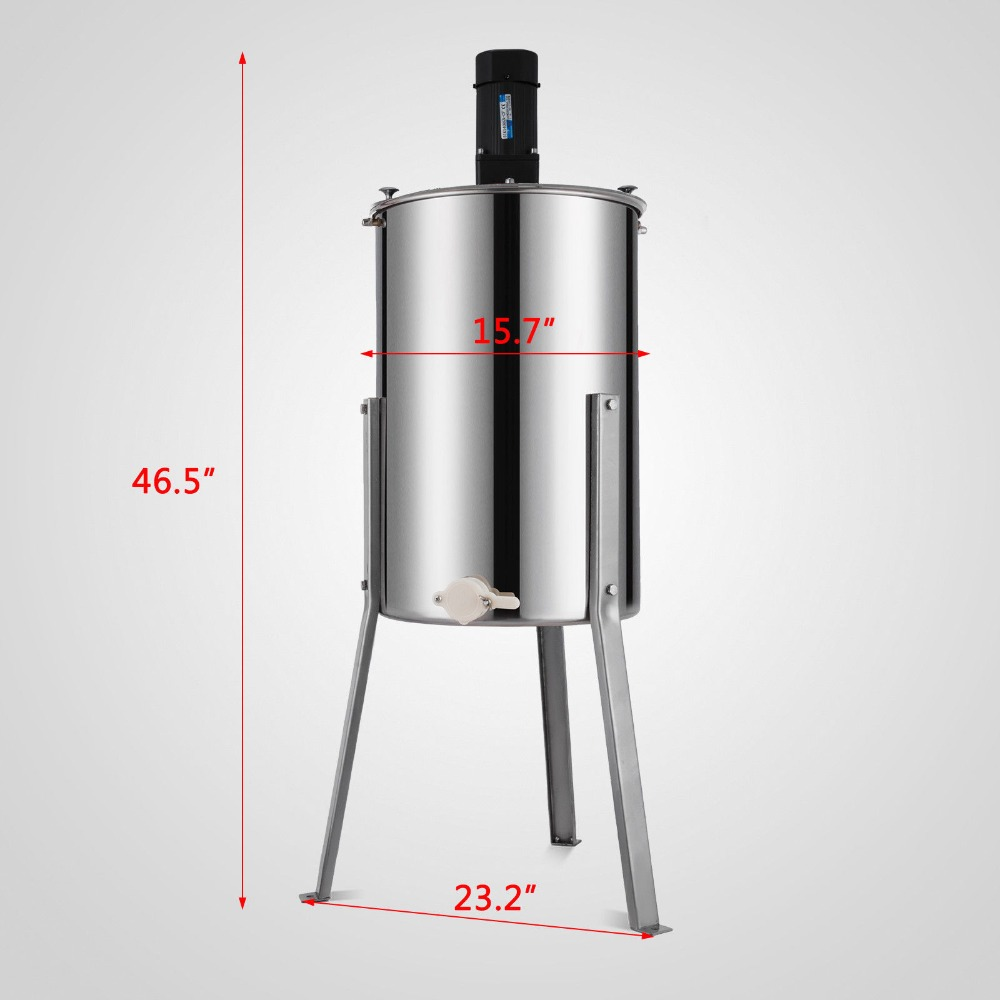 Aço Inoxidável Extrator de Mel Elétrica