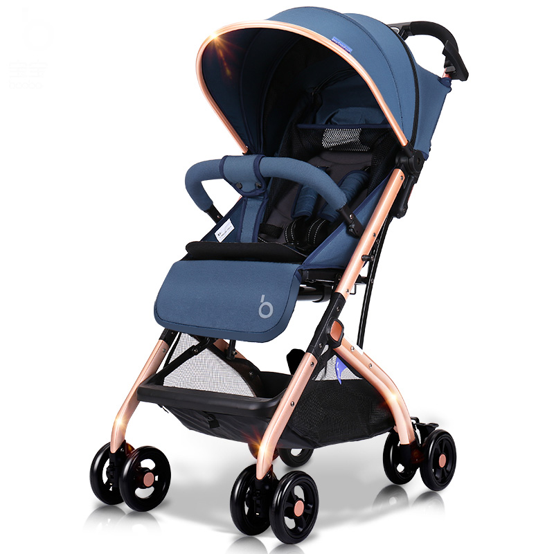 Pram Doll Stroller High View Can Sit and Lie Light Folding Umbrella Car sometimes i lie