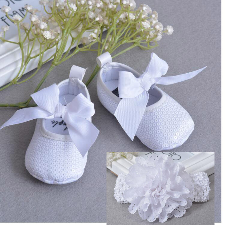 First Walkers Mother & Kids Baby Shoes Girls Princess Footwear Cute Button Flower White Polka Dot Girl Shoes First Walkers Soft Sole Sapatos Menina 0-18m To Assure Years Of Trouble-Free Service