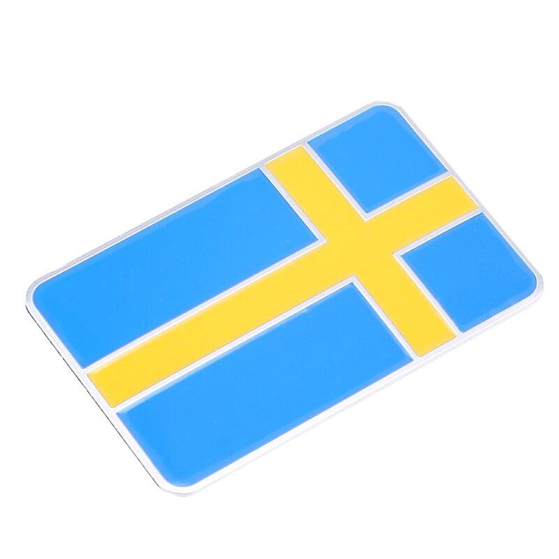 BBQ @ FUKA 3D aliuminis Švedija Švedijos vėliava Automobilio emblemos kėbulo lipdukas Grafinis lipdukas tinka BMW ford focus chevrolet cruze kia skoda