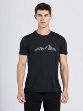 2019 Homens T Camisa De Lã Merino 100% Lã Macia Leve Resistência À Umidade Wicking & Odor S XL Esportes T shirt Dos Homens de Tamanho 150Gsm