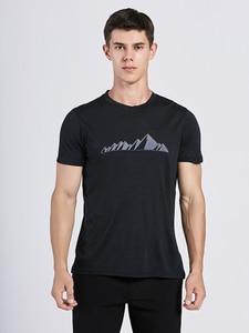 Image 1 - Мужская футболка из 2019 мериносовой шерсти, мягкая легкая Влагоотводящая и устойчивая к запаху Спортивная футболка из 100% шерсти, размеры S XL, г/м2