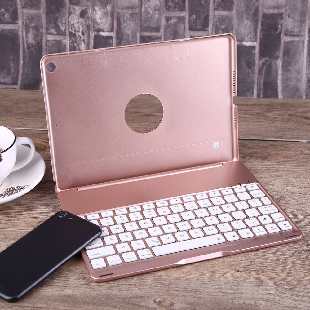 High Quality Keyboard Case Ultra Slim Wireless Bluetooth Keyboard Portable Notebook with Backlight for iPad 9.7 iPad Air 1 for ipad air 1 case with keyboard wireless bluetooth keyboard abs plastic stand protective bluetooth keyboard for ipad 5