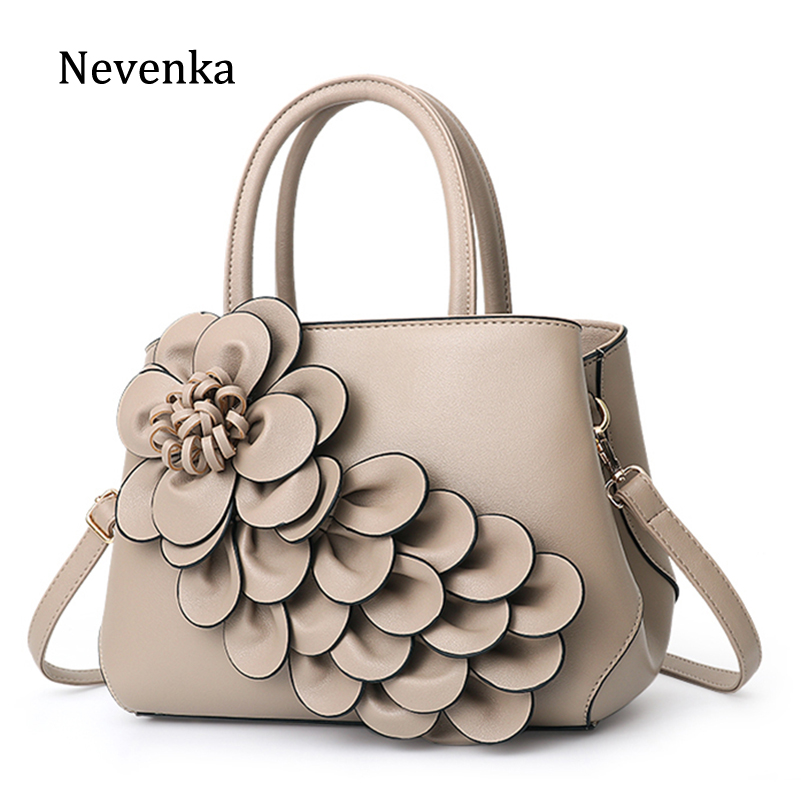 Nevenka Floral Handbags Women PU Leather Tote Bags Shoulder Bag Large Capacity Crossbody Bag For Girls Purse And Handbag 2019