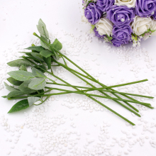 Simulation of artificial plastic stem leaves rose stem/silk/wedding decoration holding a flower Long 35CM