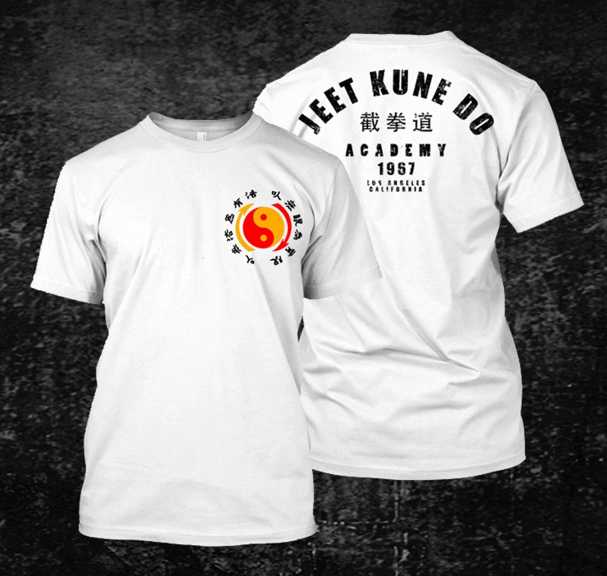 Venda quente jeet kune do academy t-camisa masculina de manga curta 100% algodão t camisa hip hop camisetas topos harajuku streetwear 2