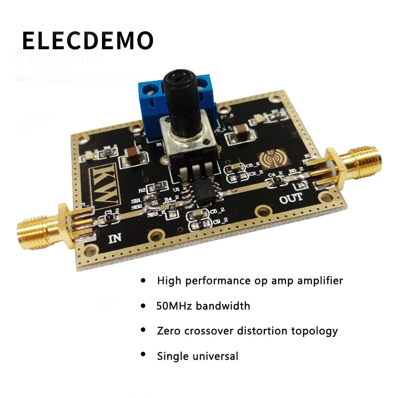 OPA365 Module High Performance Operational Amplifier Module 50MHz Bandwidth Zero Crossover Distortion Topology-in Demo Board Accessories from Computer & Office