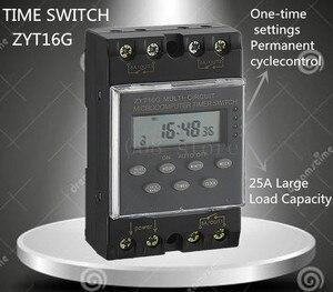 Микрокомпьютер ZYT16G -3A 220VAC 25A, цифровой звонок, программный звонок, программируемый переключатель таймера kg316, бесплатная доставка