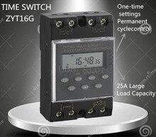 Freies verschiffen ZYT16G 3A 220VAC 25A Micro Computer Digitale Glocke Programm Glocke Controller Glocke Programmierbare kg316t TIMER SCHALTER