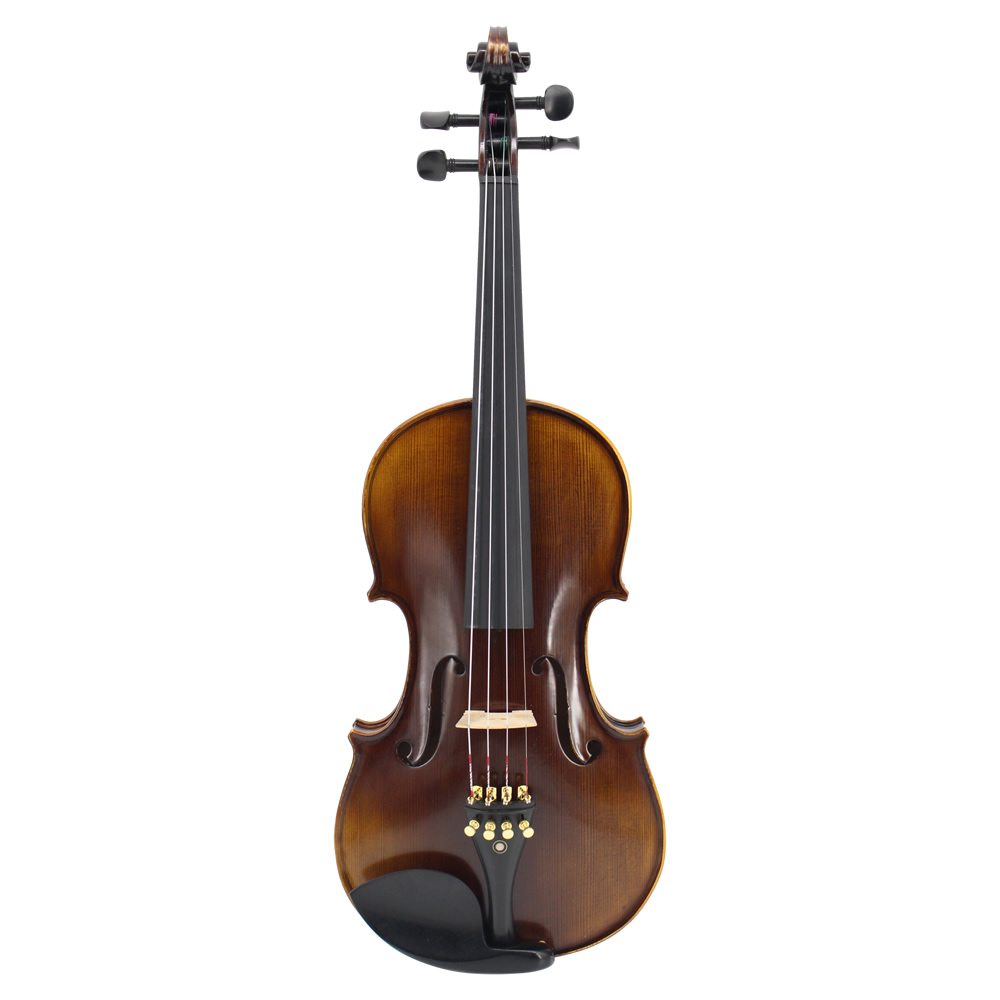 Nature Flamed Maple Acoustic Violin Master Handmade Antique Violin Full Size 1/4,1/2,3/4,4/4 Ebony Parts w/ Case Bow Rosin
