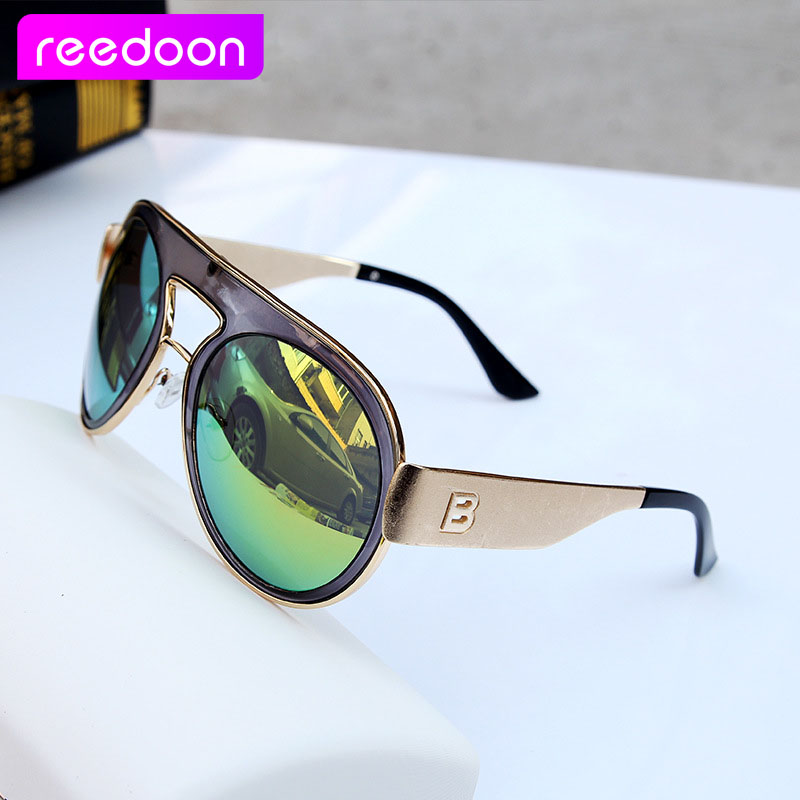 9ed2ec85d7 Hot Sales reedoon oculos Fashion Star Sunglasses Women Men Aviator Mirrored  Lens UV Protection Sun Glasses De Sol s706