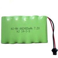 1 מארז חבילה נטענת 2400 mah 7.2 v סוללה nimh 7.2 v/aa nimh הסוללה ni-mh 7.2 v עבור כלי צעצוע חשמלי בשלט רחוק סירת