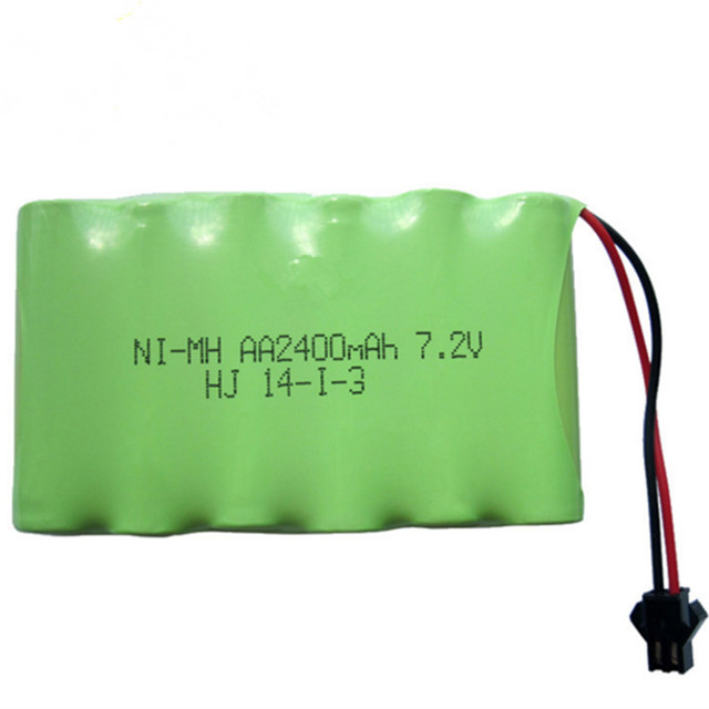 1pack 2400mah 7.2v rechargeable pack battery nimh 7.2v
