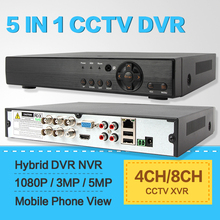 CCTV DVR 4Ch 8Ch 16Ch 1080N 1080P 3MP 5MP Hybrid NVR Security Recorder Support 5 IN 1 XVR Onvif RS485 Coxial Control P2P View