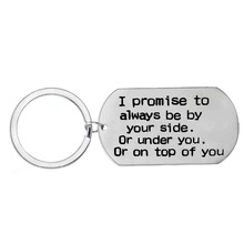 I Promise To Always Be By Your Side Stainless Steel Keychain