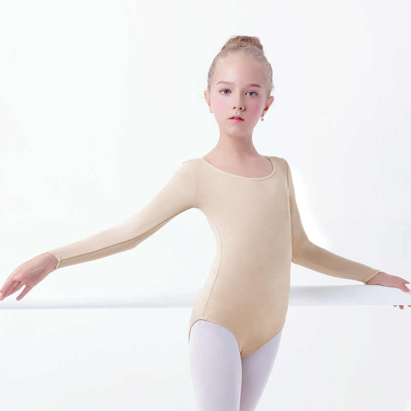 f1c26cbdb39e1 Girls Adult Nude Leotard Ballet Underwear Long Sleeve Skin Leotards Women  Ballet Gymnastics Leotards