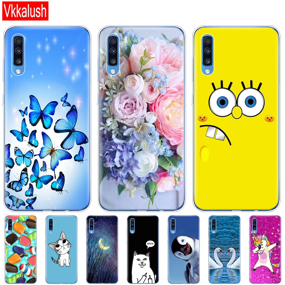For <font><b>Samsung</b></font> <font><b>A70</b></font> Case <font><b>2019</b></font> Soft TPU Phone Back <font><b>Cover</b></font> For <font><b>Samsung</b></font> Galaxy <font><b>A70</b></font> silicon Cases Coque Capa A 70 A705 A705F bumper image