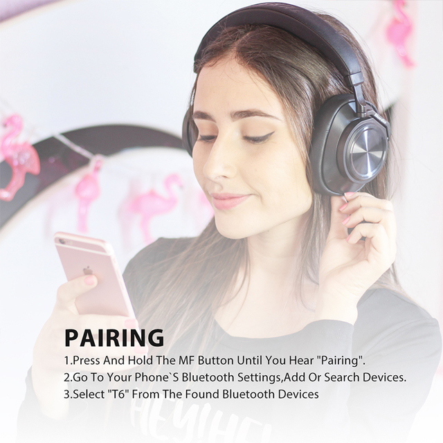 Buy Bluedio T6 Active Noise Cancelling Headphones Wireless Bluetooth