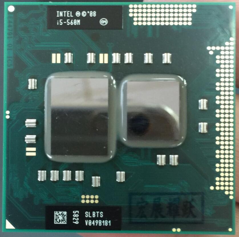 Processeur d'ordinateur portable Intel Core i5-560M i5 560 M ordinateur portable CPU PGA988 ordinateur portable cpu