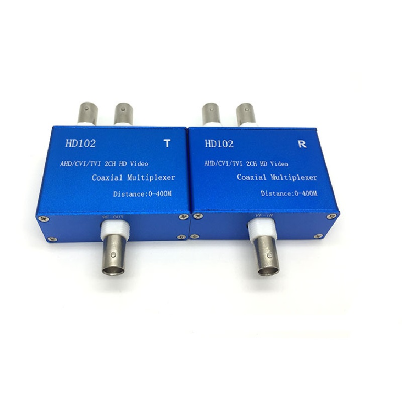 2CH 3MP 2MP 1080P HD AHD CVI TVI Coax Video Signal Multiplexer  Transmitter & Receiver Coaxial Cable Distance 400M