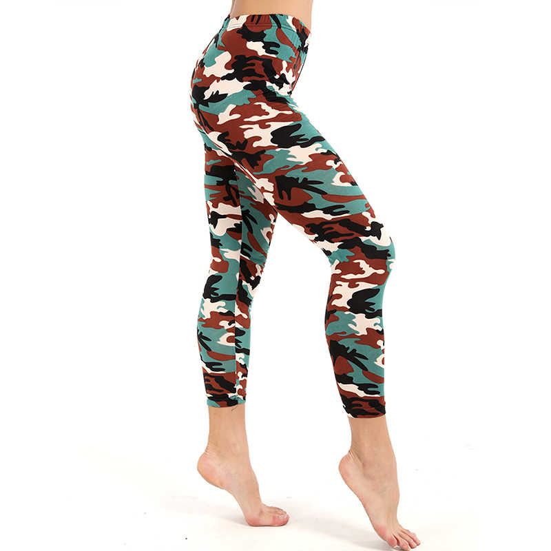 f16e5b7af03622 ... Women Leggings High Elastic Skinny Camouflage Legging Spring Summer  Slimming Female Leisure Jegging Pants Sexy Army ...