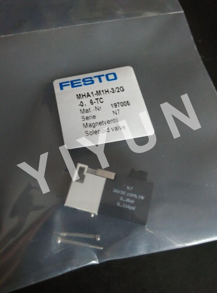 MHA1-M1H-3/2G-0.6-TC 197005 MHA1-M1H-2/2G-0.9-TC 197041 MHA3-M1H-3/2O-3-K 525156 MHA3-M1H-3/2G-3 525134 FESTO Solenoid valve [sa] genuine original special sales festo solenoid valve cpa10 m1h 5js spot 173450 2pcs lot