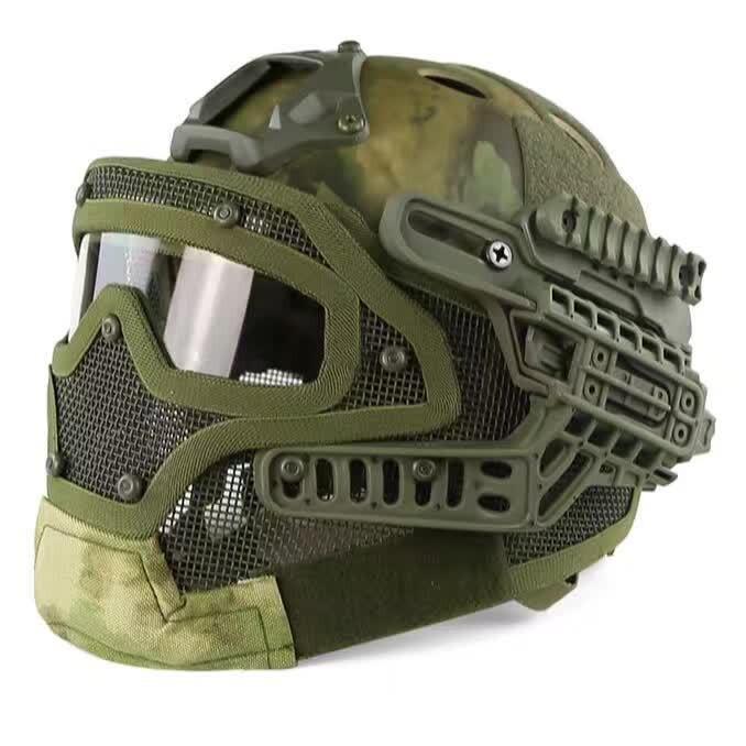 Casque tactique G4 système Protection globale masque facial et lunettes, casque Airsoft multifonction pour Paintball militaire WarGame