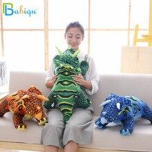 40/65cm Simulation Dinosaur Plush Toys Cartoon Triceratops Soft Doll Toy Animal Model for Children Boys Baby Birthday Gifts