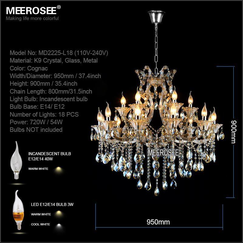 Maria Theresa Cristal Candelabru Lumină de coniac LED Lustru de - Iluminatul interior - Fotografie 2