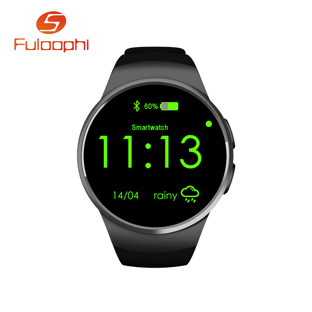 ФОТО New smart watch phone KW18 MTK2502C 1.3 inch round screen IPS LCD 240X240 Bluetooth 4.0 Anti-lost alert Remote camera PK NO.1 G3
