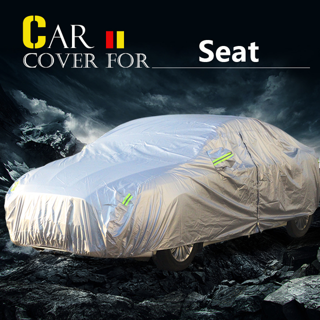 Cubierta del coche Parasol Anti-UV Lluvia Nieve Resistente Scratch de Polvo Cubierta Impermeable Para Marbella Seat Altea Alhambra Toledo Cordoba