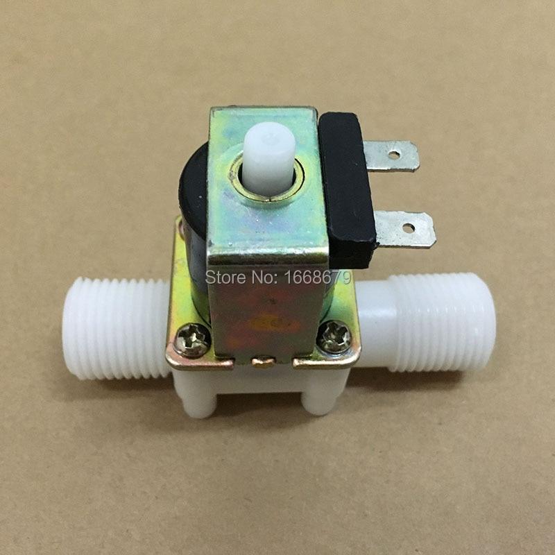 Ebowan nova dc 12v 24 v válvula de controle de água elétrica solenóide normalmente aberto 1/2 valve n n/o