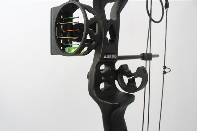34 Inches Compound Bow with Sight Brush Stabilizer D-Ring Wrist Ropes and Release Aid for Outdoor Archery Hunting Shooting