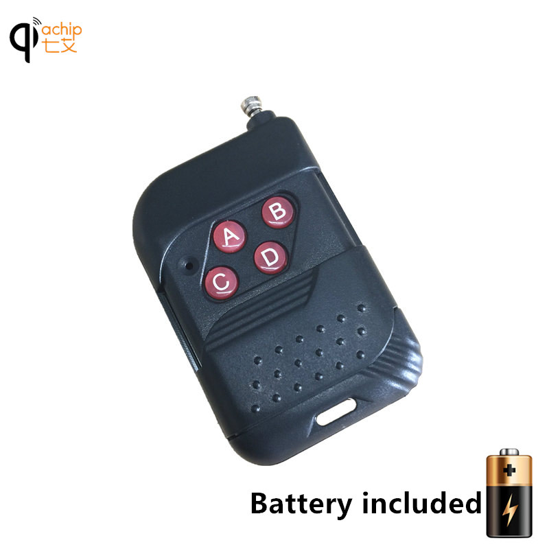 433mhz RF Remote Control Learning code 1527 EV1527 For Gate garage door controller Light Switch 433 mhz Receiver with Battery