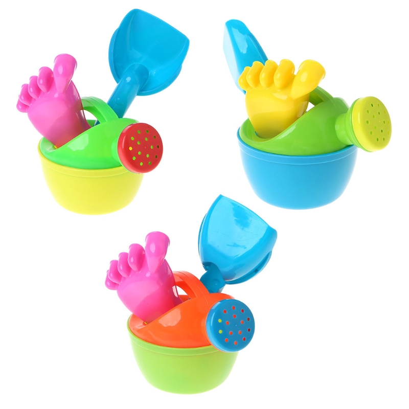 3pcs/set Baby Kids Bath Flower Pot Sand Beach Play Toys Funny Educational Tools MA25