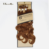 Synthetic Hair Bundles Malaysian Body Wave With Closure Free Lace Closure Natural Blond Hair Weave Extensions