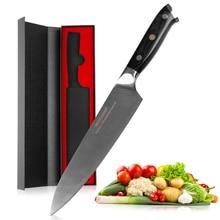 Mokithand 8 дюймовые немецкие 1,4116 стальные поварские ножи, японский кухонный нож из высокоуглеродистой стали, нож из нержавеющей стали с ручкой Pakka