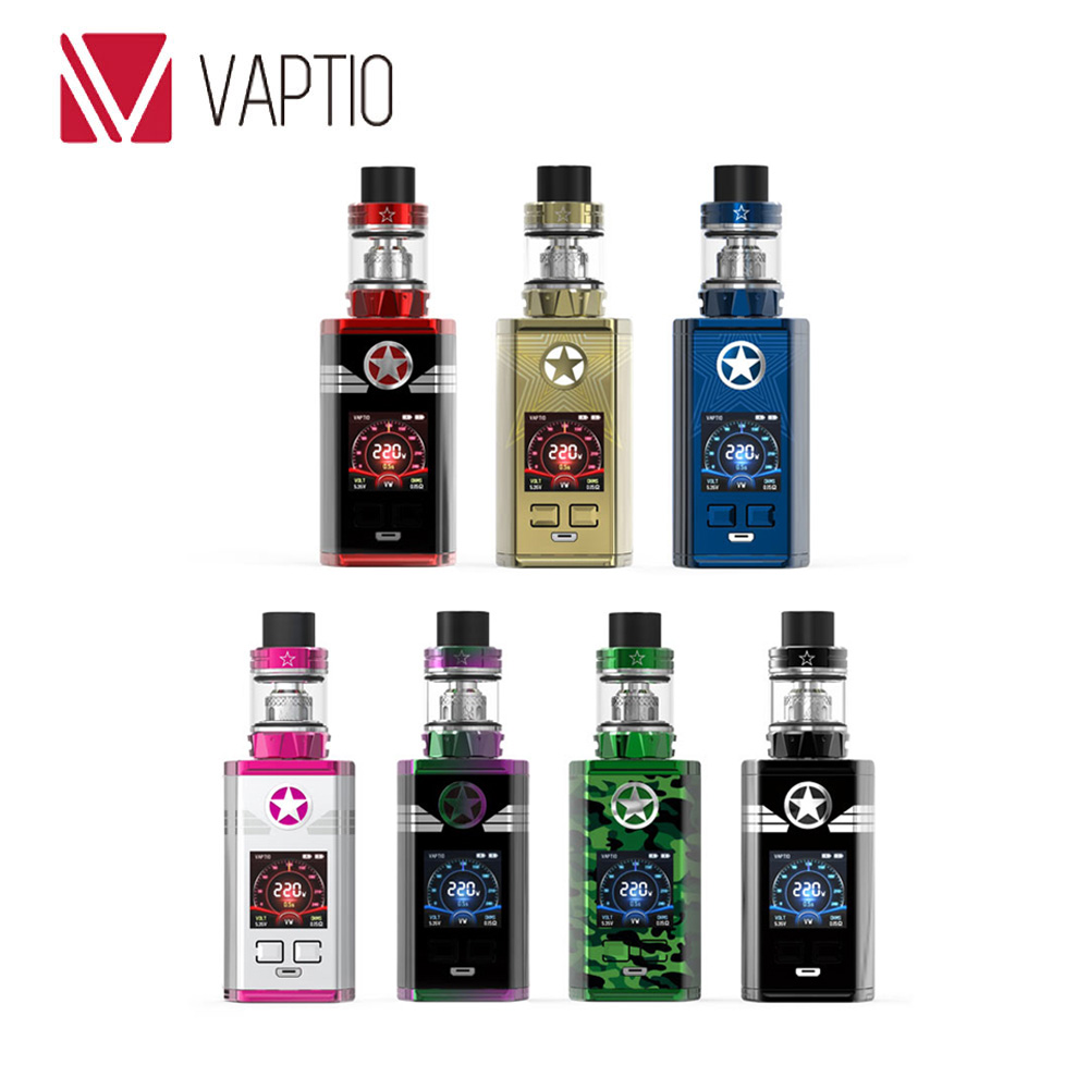 Original Vaptio Captn 220W TC Kit W/ 8ml/2ml Paragon Tank & 0.005s Fire Speed & 1.3-inch Color Screen E-cig Vaptio Captn KitOriginal Vaptio Captn 220W TC Kit W/ 8ml/2ml Paragon Tank & 0.005s Fire Speed & 1.3-inch Color Screen E-cig Vaptio Captn Kit