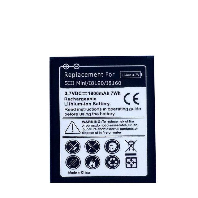 Batterie de téléphone pour Samsung Galaxy S3 Mini S3Mini i8190 i699 Ace 2 i8160 S7560 S7580 tendance S GT-S7562 3 broches batteries rechargeables