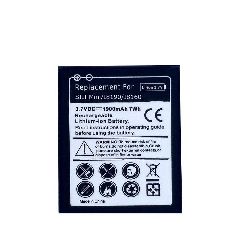 Phone <font><b>Battery</b></font> for Samsung Galaxy S3 Mini S3Mini <font><b>i8190</b></font> i699 Ace 2 i8160 S7560 S7580 Trend S GT-S7562 3 Pin Rechargeable <font><b>batteries</b></font> image