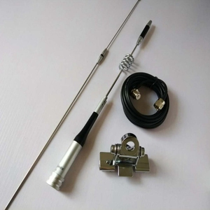 Image 1 - Antena de SG 7200 para transceptor de radio del coche móvil UHF/VHF Banda Dual 6,0 dBi SG 7200 + Kit de montaje de Clip para coche RB 400 + Cable de 5M