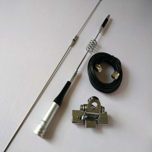 هوائي SG 7200 للسيارة المحمول جهاز الإرسال والاستقبال اللاسلكي UHF/VHF ثنائي النطاق 6.0 dBi SG 7200 + سيارة قاعدة تركيب مزودة بمشبك عدة RB 400 + كابل 5 متر
