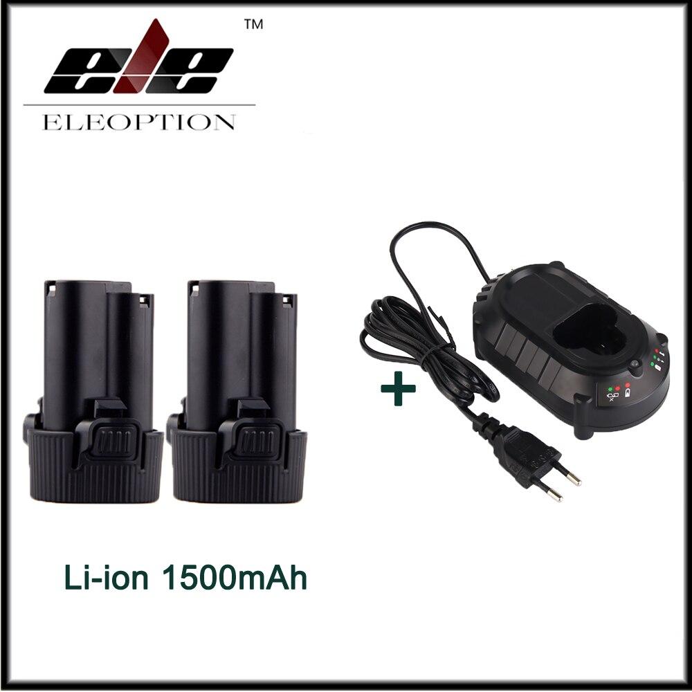 2x10.8 V Batterie pour Makita BL1013 BL1014 TD090D TD090DW LCT203W 194550-6 194551-4 Outil Électrique Avec DC10WA Chargeur